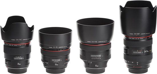 Canon-L-Lenses-Comparison-With-Hoods